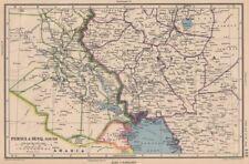 MIDDLE EAST. Persia(Iran)& Iraq south. Kuwait. Iraq/Saudi neutral zone 1944 map