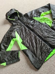 Mens The North Face Size L Summit Series Black And Florescent Hooded Coat Jacket