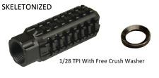 Aluminum Skeleton Muzzle Brake Compensator 1/2x28 Thread For .223 Free Washer