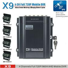 720P 4 Channel H.264 Car DVR Camera and Vehicle Video Recorder AHD DVR With GPS