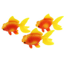 Aquarium Fish Tank Plastic Swimming Gold Fish Decoration 3 Pcs HY