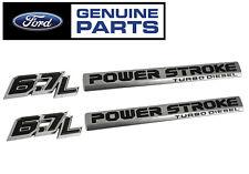 2017 Ford F250 F350 F450 Superduty 6.7L & Power Stroke Fender Emblems - 4pc Kit
