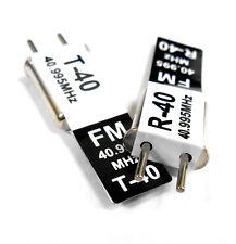 RC 40 MHZ 40.995 FM Crystal TX & RX Receiver 40MHZ Black Channel 40