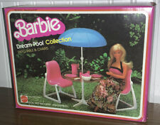 1982 VINTAGE BARBIE DREAM FURNITURE, PATIO TABLE & CHAIRS SEALED/NRFB Pink/White