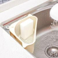 Kitchen Triangulars Suction Cup Sink Shelf Soap Sponge Drain Rack Storage Tool