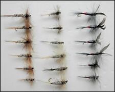 Dry Trout Flies, 18 Pack, Kites Imperial, Grey Duster & Iron Blue Dun, Mixed Siz