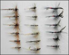 Dry Truite Mouches, 18 Pack, cerfs-volants Imperial, gris Duster & Iron Blue Dun, mixte Siz