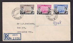 Bechuanaland Centennial LOBATSI 1960 registered FDC First Day Cover