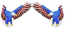 """New listing Flying American Flag Eagle Decal pair is 6"""" each in size Free Shipping"""