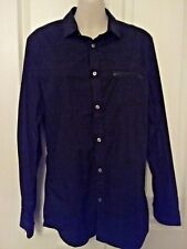 SIZE S MEN'S BLACK LONG SLEEVE BUTTON UP 'H & M' SLIM FIT SHIRT EUC
