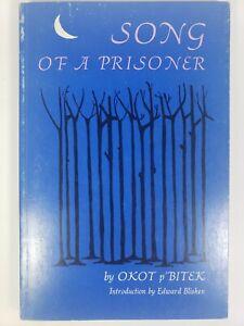 Song Of A Prisoner by Okot p'Bitek, 1st Ed., 1st Printing, 1971, PB, Illustrated