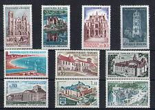France 10 timbres non oblitérés gomme**  18  Architecture