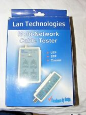 NEW OLD STOCK LAN TECHNOLOGIES MULTI NETWORK CABLE TESTER UTP STP COAXIAL