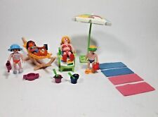 Playmobil Beach Theme Mom Lady Figure Boy Girl Toys Umbrella Chairs + NEW Loose