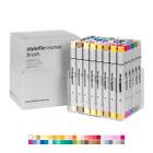 Stylefile Brush Dual-Tip Ink Marker Extended Set 48pc Graffiti Sketch Art
