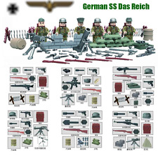 L3GO COMPATIBLE GERMAN SS MILITAR SWAT MINIFIGURES BLOCKS TOY TOYS JUGUETES..