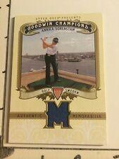 2012 GOODWIN CHAMPIONS Annika SORENSTAM Tourney Used Material LPGA Golf US Open