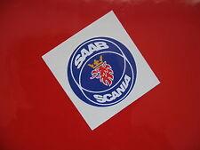 Saab Scania Rueda centros calcomanía / etiqueta adhesiva X4