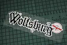 WOLFSBURG Sticker Decal Vinyl JDM Euro Drift Lowered illest Fatlace Vdub