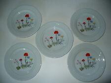 Louis Lourioux WILD FLOWER Salad Plate Lot of 5