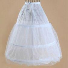 White 3 Hoop 2 Layer Bridal Wedding Gown Dress Underskirt Petticoat Skirt Slip