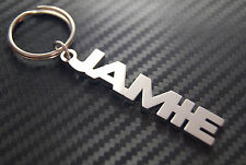 JAMIE Personalised Name Keyring Keychain Key Fob Bespoke Stainless Steel Gift
