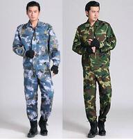 Camouflage Army Military Tactical Combat Suit Jacket Coat Trousers Pants Unifor