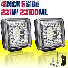 4inch 231W LED Light Bar Spot Flood Combo Work SUV Driving Offroad ATV SUV 4WD