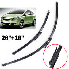 "26""16"" 2Pcs Front Windshield Wiper Blades Set For Opel Corsa D 2006 - 2013 2014"