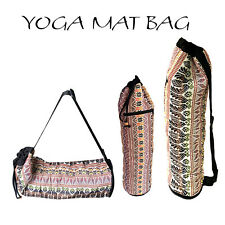 Handmade Yoga Mat Bag Carrier Strap Sling Bags Zipper Pocket Fit Most Yoga Mats