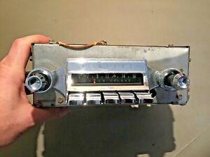 1961 Pontiac Super Deluxe AM Radio used original condition Part # 989693