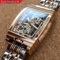 Mens Rose Gold Bridge Manual Mechanical Watch - Stainless Steel DIASTERIA 1688W