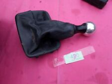 Peugeot 206 CC Sport GTI Black Leather Gaiter & Chrome Metal Gear Knob