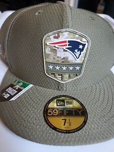 """New Era 59Fifty New England Patriots NFL """"Salute to Service"""" Cap Size (7 1/2)"""