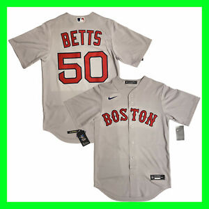 Nike Boston Red Sox MLB Mookie Betts #50 Baseball Jersey T770-BQG3 Mens Size S