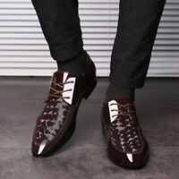 Men Business Dress Wedding Formal Party Leather Shoes Casual Pointed Toe Oxfords