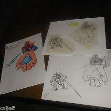 3 LOT MARVEL SPIDERMAN ORIGINAL ART BURGER KING FASTFOOD WRIST SQUIRTER TOY