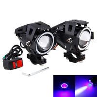 Motorcycle Headlight U7 2PCS 125W LED Motorbike Driving Spot Light Fog Lamp