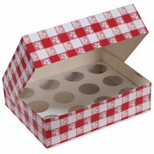Red Large Cupcake Box With Insert