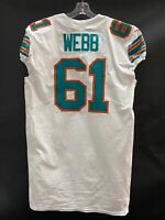 #61 J'MARCUS WEBB MIAMI DOLPHINS GAME USED WHITE THROWBACK NIKE JERSEY YEAR '19