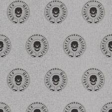 Roberto geissini Emblema Plata Calaveras Papel Pintado Con Brillo Efecto 492385
