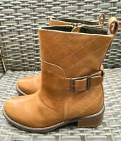 Ladies BARBOUR Lambeth Chelsea Leather Boots Brown Tan Size UK 3 EUR 36 RRP £139