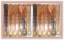 "Wholesale Set of 12 x Wooden Incense Burners Ashcatchers Great Gifts (Dozen) 10"""