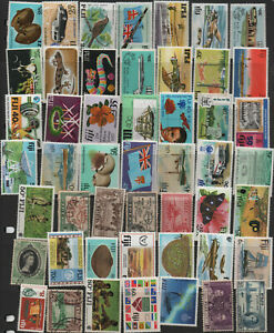 Fiji - 241 different stamps, nice colourful collection (77P)