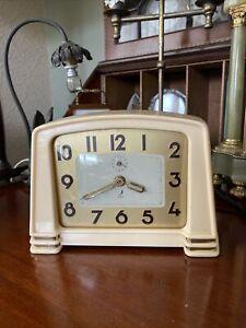 Vintage French Jaz Bakelite Alarm Clock Full Working Order