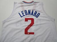 KAWHI LEONARD / NBA FINALS MVP / AUTOGRAPHED L. A. CLIPPERS CUSTOM JERSEY / COA