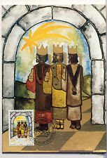 LIECHTENSTEIN   Carte Postale Maximum N° 50 LES TROIS ROIS MAGES  LIE04