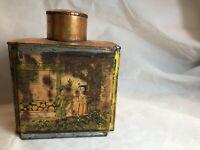 Antique Tack Kee Chinese & Co. Tea Tin Canton China Circa 1926