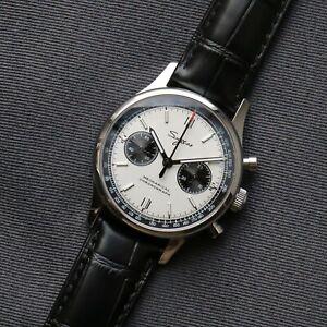 40mm Sugess Panda Chronograph Watch ST1901 Seagull Movement 1963