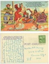 1940s Greetings from West Texas - Big Band swing - girl boogie woogie w/Indian